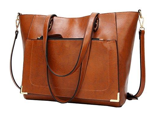 Obosoyo Women Top Handle Satchel Handbags Bag Shoulder Hobo Messenger Bag Tote - City Eyeglasses Charm