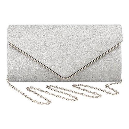 Argenté pour Boutique Pochette femme silver silver Novias aIZxE