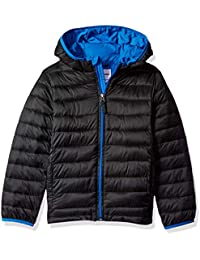 Boys' Lightweight Water-Resistant Packable Hooded Puffer...