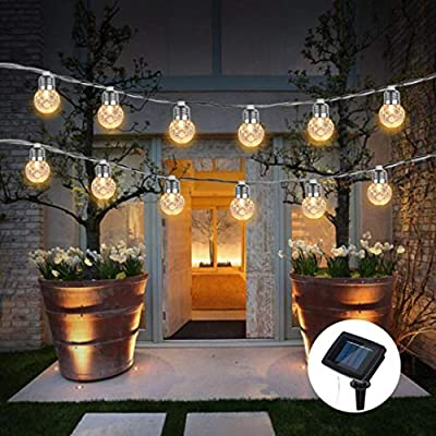 Cocal Solar Pineapple Light String Light Bulb Round Ball Light Outdoor Garden Light