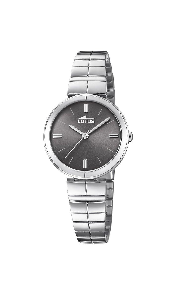 Mit Datum Quarz Edelstahl Armband Damen Klassisch Uhr Watches Lotus lJcF3uT1K