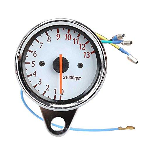 Motorrad Tachometer - SODIAL(R)Universal Motorrad Roller 13000 RPM Analog Tachometer Lehre Nachtlicht