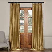 Half Price Drapes CTSK-161004-84 Cotton Silk Curtain, 50 X 84, Giza Gold