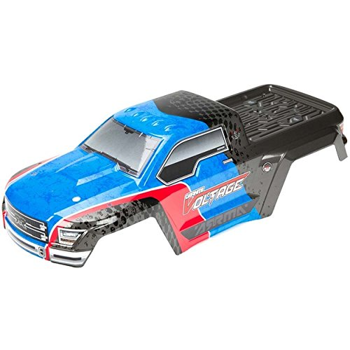 Blue Granite Shell - Arrma Painted Body with Decals, Blue/Black: Granite Voltage
