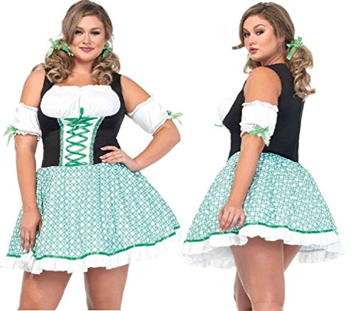 Clover O'Cutie Shamrock Irish Womens Plus Size Costume 1x/2x (Plus Size Irish Costume)