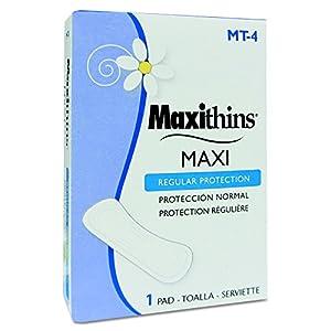 HOSPECO MT4 Maxithins Vended Sanitary Napkins #4 (Case of 250 Individually Boxed Napkins) - GID-HOSMT-4