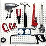 Wallpeg Tool Organizer - Plastic Pegboard Peg Hooks 50 pk. Black 25 J & 25 L Flex-Lock Peg Hooks -AM 50B 2