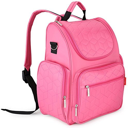 goldwheat-smart-organizer-system-baby-back-pack-diaper-bag-with-stroller-strapschanging-pad-and-sund