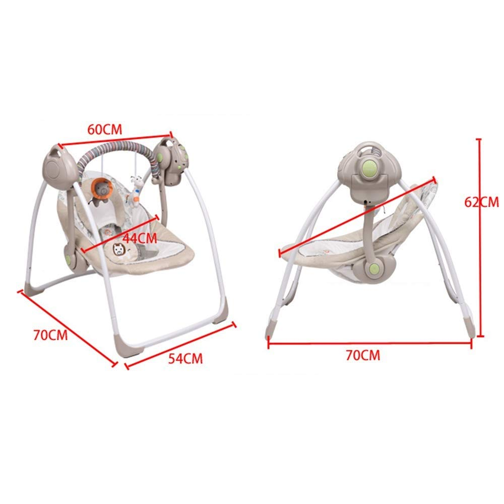 Color : Pink Yankuoo Baby Electric Rocking Chair Multifunctional Portable Baby Bed Child Swing Seat Adjustable Swing Frequency//Smart Music//Smart Timing