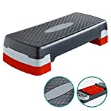 Denny International Aerobic Exercise Adjustable up to 2 Levels Stepper Yoga Fitness Gym Home...