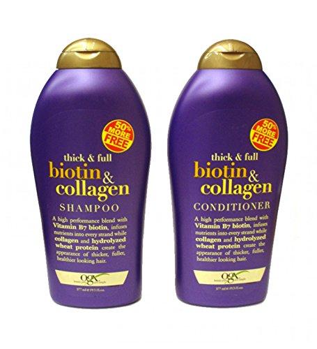 Комплекс шампуней Биотин и коллаген, 385 мл (OGX (Thick and Full) Biotin, Collagen Shampoo, Conditioner)