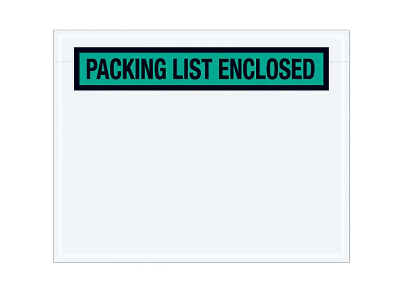 RetailSource E050401NP500 Packing List Enclosed Panel Face Envelopes 5.5 x 4.5 x 1 Green Pack of 500