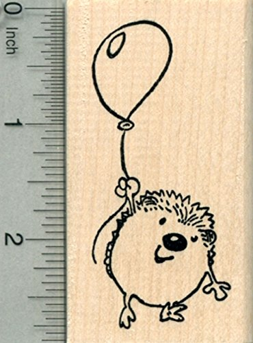 (Hedgehog with Balloon Rubber Stamp, Party Series)