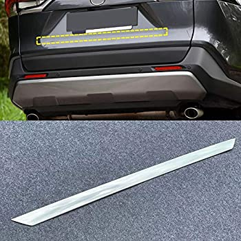 YUZHONGTIAN Car Accessories Rear Boot Trunk Lid Molding Trim ABS 1pc for Toyota RAV4 XA50 2019-2020 ABS Carbon Style