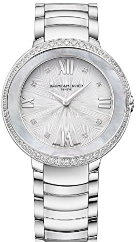 Baume & Mercier Moa10199 Promesse Women Watch - Silver Dial Stainless Steel Case Quartz