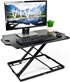 VIVO Black Single Top Height Adjustable Standing 32' Desk Sit Stand Converter Tabletop Monitor Laptop Riser Platform Station (DESK-V000HB)