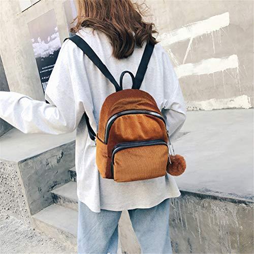 Velluto Da Zaino Bag Tracolla Fashion Sfera In Casual Coste Piccolo Vhvcx Borsa Viaggio Donne A R5cIO