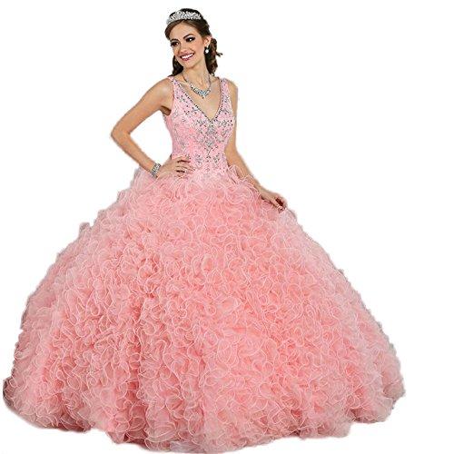 CoCogirls - Vestido - globo - para mujer Rosa