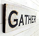 """Horizontal Gather Sign - Carved in a Cypress Board by Florida Artist, Carl McCoy Piece measures 10"""" tall by 40"""" wide by 1"""" thick. This piece is wired and ready for display on your wall. I can also do this sign in a vertical format. I can do c..."""