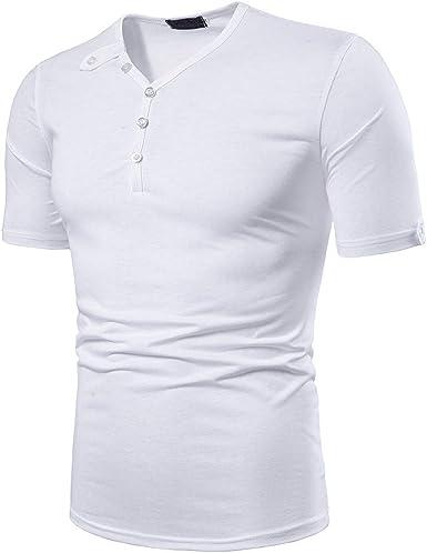 Sylar Camisetas Manga Corta Polo para Hombre Cuello V Verano ...