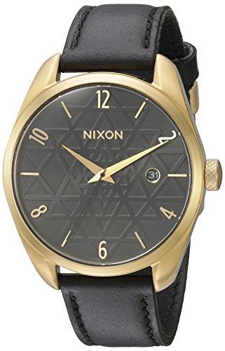 Nixon Women's 'Bullet' Quartz Metal and Leather Watch, Color:Black (Model: A4732478-00)