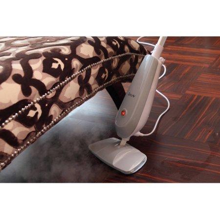 SALAV STM-501 Performance Light Weight Steam Mop with Snap-On Carpet Glider, 45 sec Steam Ready Time, 1100-Watt, Gray