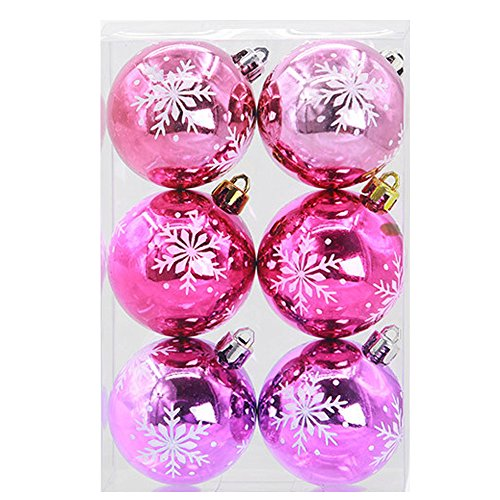 Outsta 6Pcs Christmas Balls Baubles Christmas Ball Ornaments, Party Xmas Tree Decorations Hanging Ornament Decor 2.3