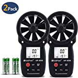 Holdpeak 2Pcs 866B Digital Anemometer Handheld LCD Wind Speed Meter Measuring Wind Speed, Temperature Wind Chill Backlight Max/Min Data
