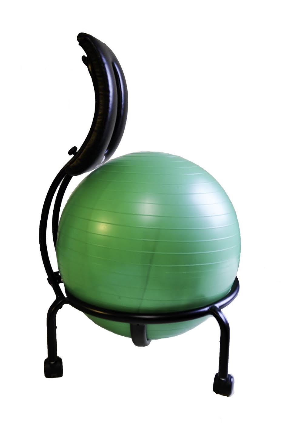 Health Mark Smart Chair Height-Adjustable Exercise Ball Chair, Green (BT20020)