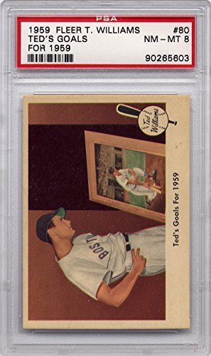 1959 Fleer Ted Williams - Ted's Goals for 1959 (Last Card) #80 Boston Red Sox PSA 8 NM-MT (Graded Baseball Cards)