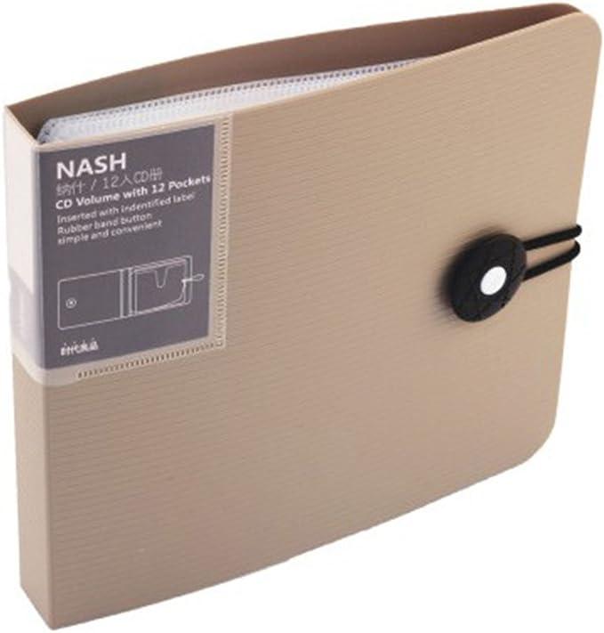 zantec unidades de funda para CD con discos DVD y cierre con hebilla, color marrón: Amazon.es: Oficina y papelería