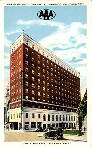Sam Davis Hotel  7Th Ave  At Commerce Nashville  Tennessee Original Vintage Postcard