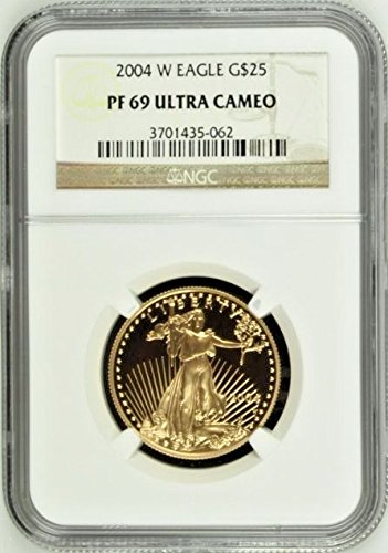 2004 2004 W Gold Proof Coin $25 American Eagle United coin PR 69 NGC