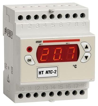 Termostato digital NTC 2DA en HT-Caja 4 módulos DIN para la regulación de la