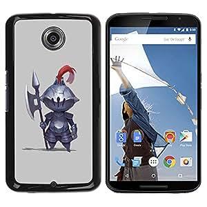 YOYOYO Smartphone Protección Defender Duro Negro Funda Imagen Diseño Carcasa Tapa Case Skin Cover Para Motorola NEXUS 6 X Moto X Pro - caballero hacha de combate guerrero lindo medieval
