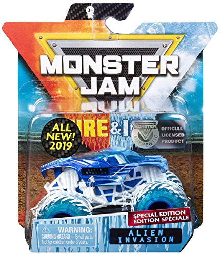 (MJ 2019 Monster Jam Fire & Ice Alien Invasion Special Edition 1:64)
