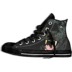 NAFQ Panther Classic Canvas Sneakers Shoes Lace Up Unisex High Top