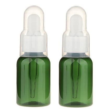 ulable 2pcs botella contenedor frasco gotero pipeta vacía Botellas de muestra para aceite esencial