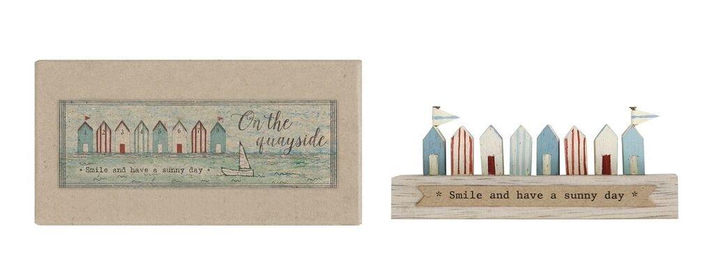 Miniatura Shabby Chic de madera), diseño de casetas de playa/Decoración - Náutico/Playa/ - Figura de Seaside
