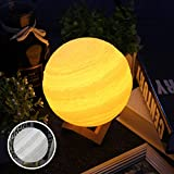 Cheap Baby Night Light Dimmable Jupiter Light with 3D Printing Technology Jupiter Lamp Touch Switch with USB Charging PLA Material Two-Tone Jupiter lamp(15 cm(2colors))