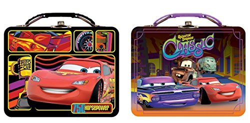 Lunch Box - Disney - Cars Metal Tin New  tin617667-ast