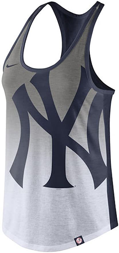 Canotta Nike Tri Blend Logo Donna New York Yankees Bianca
