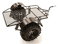 Integy RC Hobby C26721BLACK Realistic Leaf Spring 1/10 Size Low Side Trailer for Scale Crawler Truck