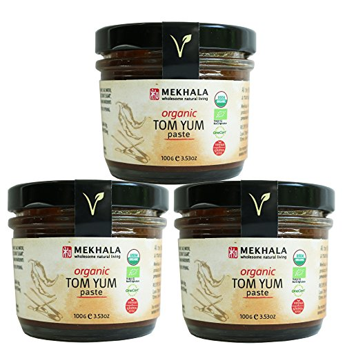 Mekhala Organic Gluten Free Tom Yum Paste Value Pack (3x3.5oz)
