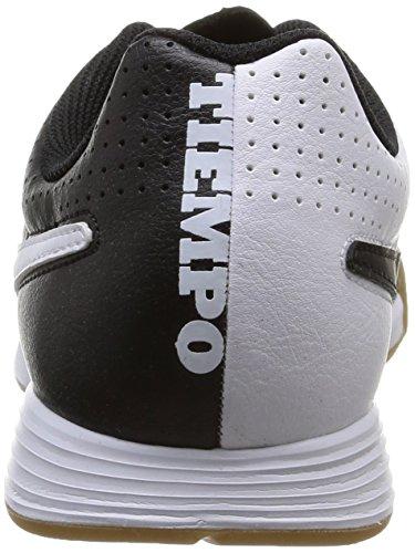 Nike Herren Tiempo Genio Leder IC Fußballschuhe Schwarz-Weiss