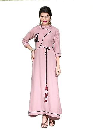 Women Party Wear Rayon Printed long kurti Women Latest Designer Wear ...