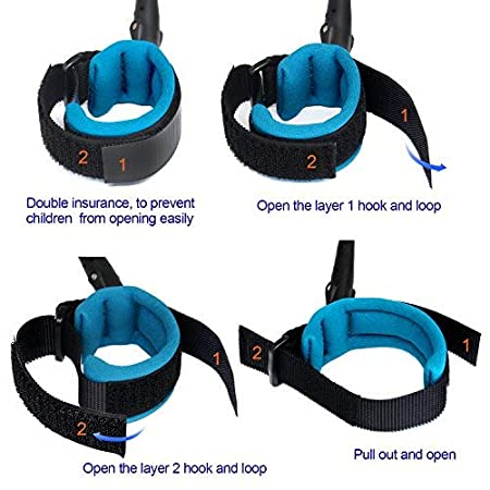 Anti Lost Wrist Link Safety Wrist Link for Toddlers Blue by Blisstime Babies /& Kids