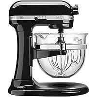 KitchenAid KF26M22OB 6-Qt. Professional 600 Design Series with Glass Bowl - Onyx Black