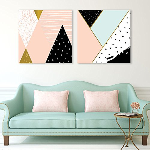 2 Panel Square Fresh Color Geometry Patterns Patterns x 2 Panels