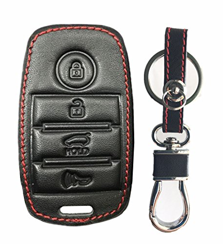 Rpkey Leather Keyless Entry Remote Control Key Fob Cover Case protector For Kia K3 K5 Cerato Forte Sorento Rio Rio5 Optima 95440-D4000 81999-D4060 SY5JFFGE04